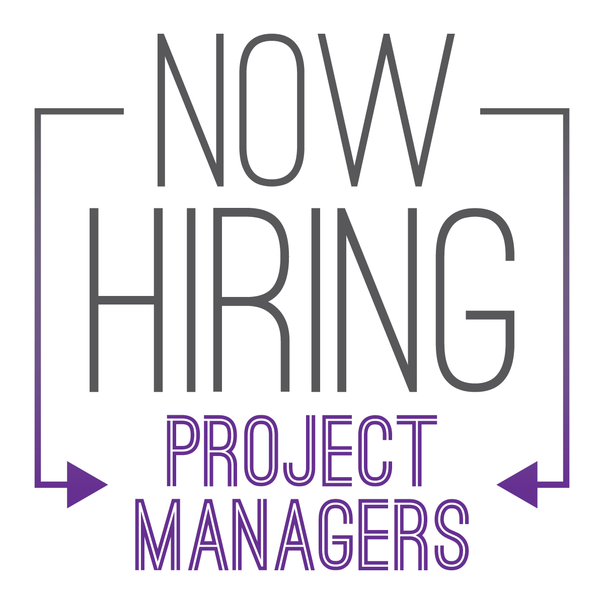Now Hiring Badges Project Managers
